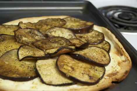 Eggplant tart.