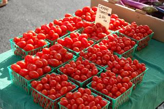 Fresh tomatoes at the Bloomington Farmers Market. Taylor Smith