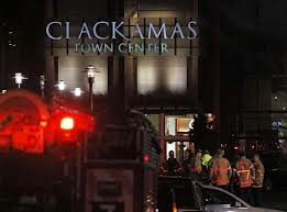 Outside Clackamas Town Center. The Associated Press.