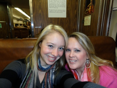 Traveling on the train in New Jersey. What a great reunion that was!