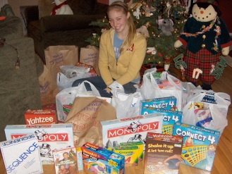Gift drive for Kelly Elementary.