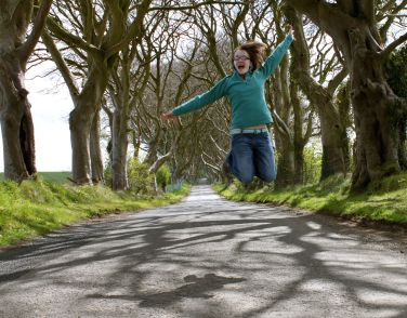 Finding Joy in the Dark Hedges in Northern Ireland.