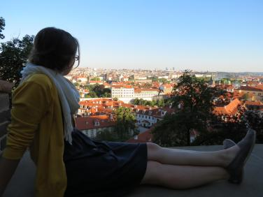 Overlooking Prague.