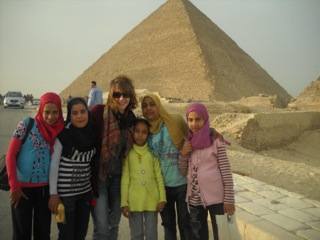 The Egyptian Pyramids in December, 2010.