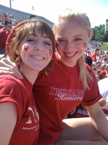 Suzie and I at our first IU football game.