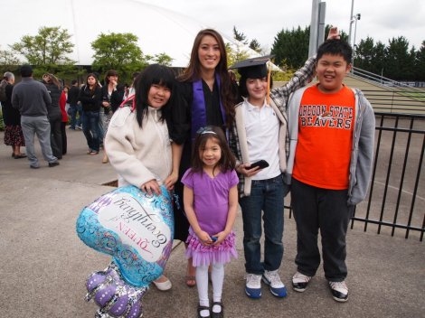 kim graduating