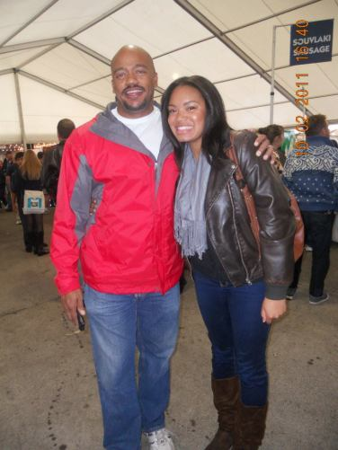 Marshawna and her dad, Mark Williams.