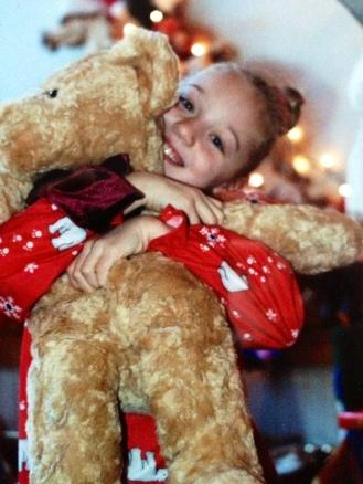 A Christmas hug surprise.