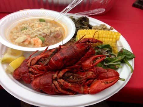 Crawfish boil, my introduction to southern dining.