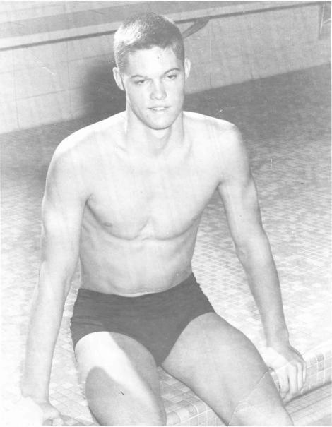 Dad during his swimming days at IU.