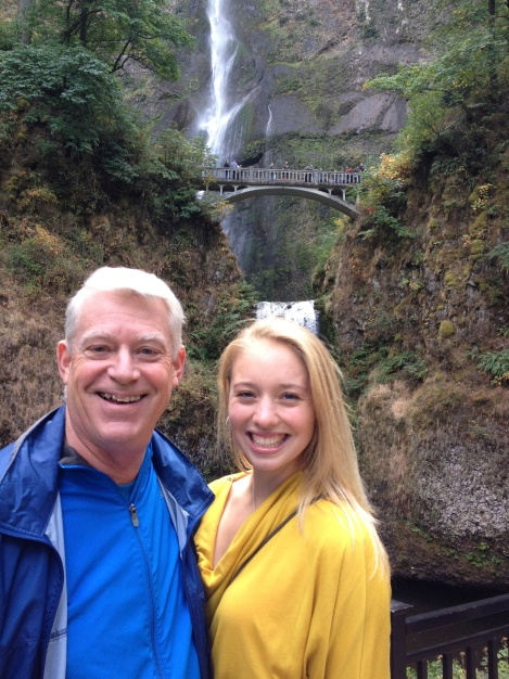 My godfather and I at Multnomah Falls, Ore.